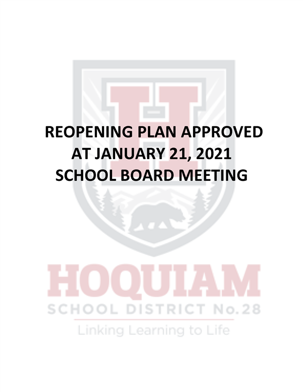 REOPENING PLAN APPROVED