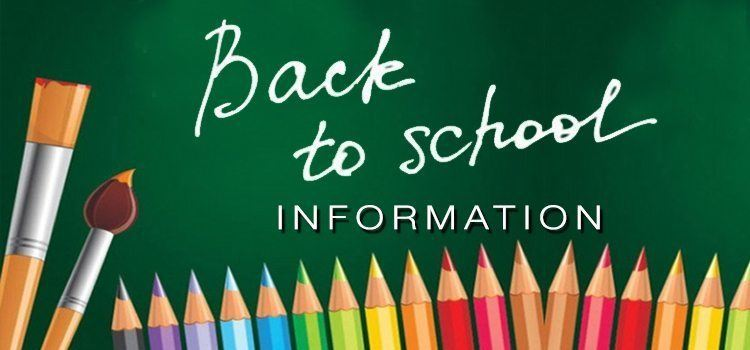 CLICK HERE FOR THE DISTRICT OFFICE HOME PAGE - SCHOOL START-UP INFORMATION
